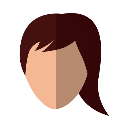 A woman avatar icon image vector illustration design