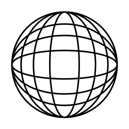 어스 세계 다이어그램 아이콘 이미지 벡터 일러스트 레이 션 디자인