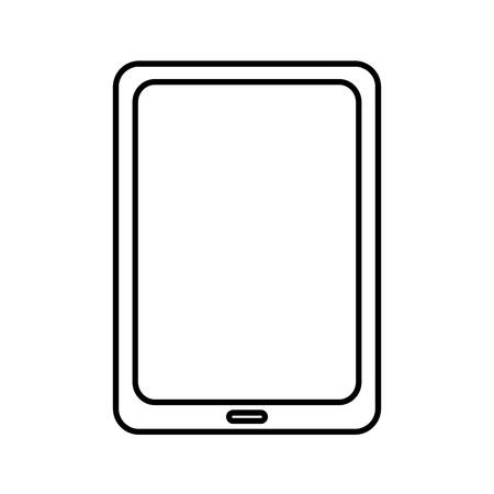 태블릿 장치 가젯 아이콘 이미지 벡터 일러스트 디자인