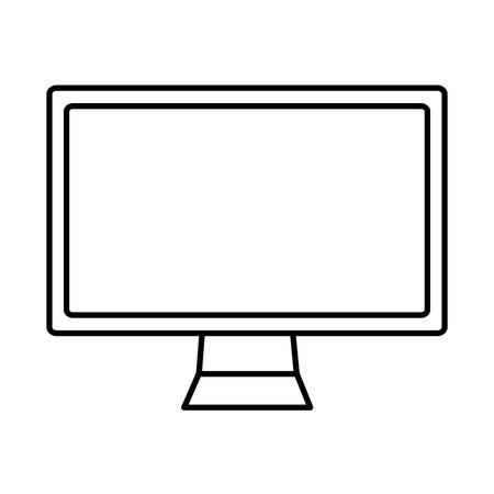 コンピュータモニターアイコン画像ベクトルイラストデザイン