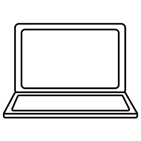 laptop computer icon image vector illustration design