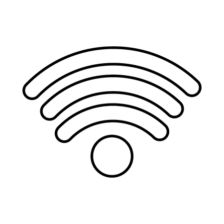 Internet wifi connection symbol icon vector illustration outline image Illustration