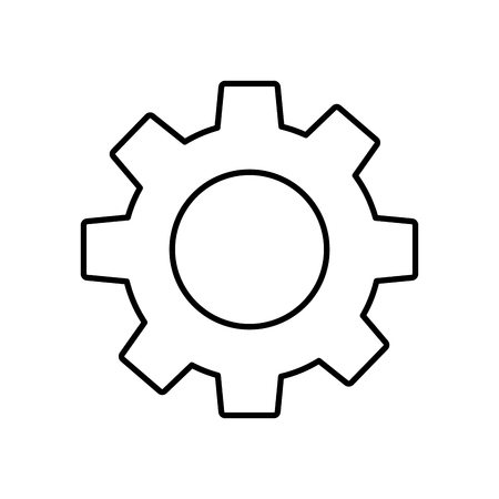 Technical gear setting technology icon vector illustration outline image.