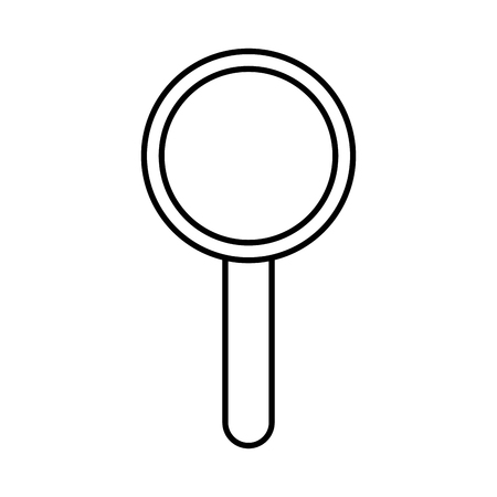 internet technology magnifier search icon vector illustration outline image