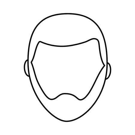 standaard mannelijke avatar man profiel foto pictogram vector illustratie overzicht afbeelding