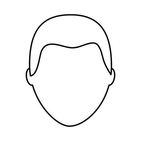 Standaard mannelijke avatar man profielfoto pictogram vector illustratie overzicht afbeelding Stock Illustratie