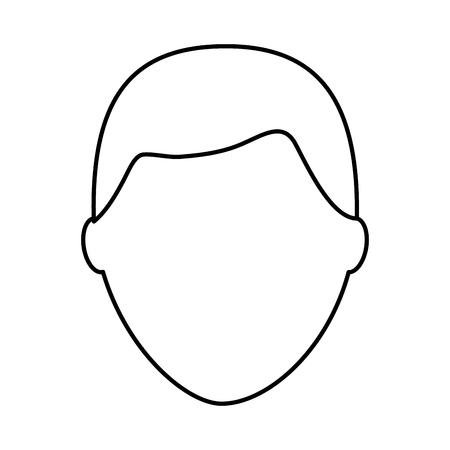 デフォルトの男性アバター男性プロフィール画像アイコンベクトルイラストアウトライン画像