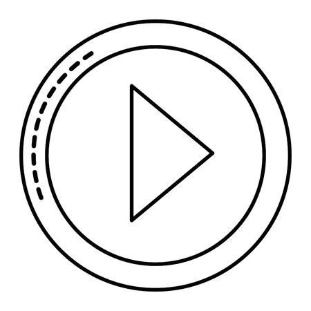 jogar botão isolado ícone vector ilustração design Ilustración de vector