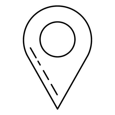 Pino ponteiro localização ícone vector ilustração design Foto de archivo - 92210075