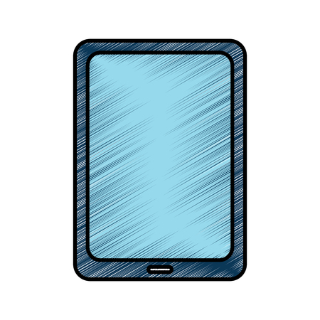 Tablet computer technology device wireless vector illustration drawing image Иллюстрация