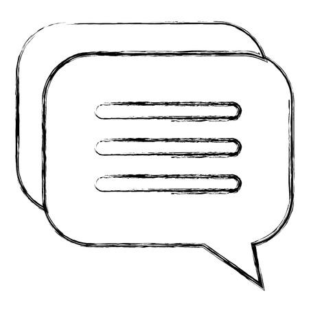 音声バブル分離アイコンベクトルイラストデザイン 写真素材 - 92272396
