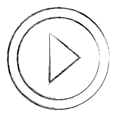 버튼 격리 된 아이콘 벡터 일러스트 디자인 재생 스톡 콘텐츠 - 92272405