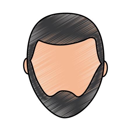 デフォルトの男性アバター男性プロフィール画像アイコンベクトルイラスト描画画像  イラスト・ベクター素材