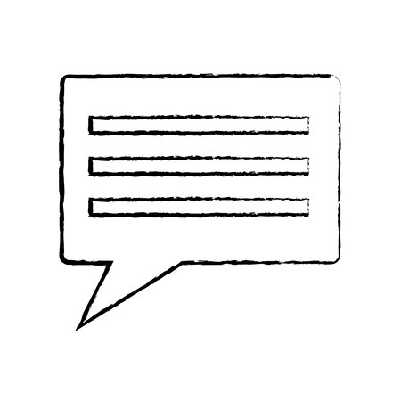 chat conversation bubble icon image vector illustration design  black sketch line