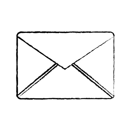 message envelope icon image vector illustration design  black sketch line Çizim