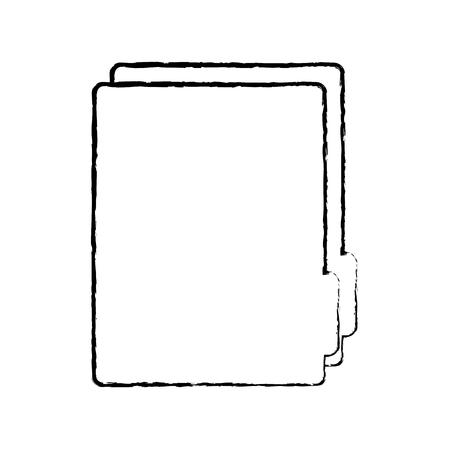 file folder icon image vector illustration design  black sketch line Illustration
