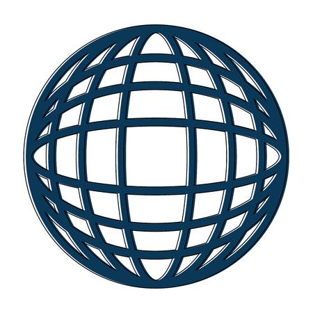 지구 지구본 다이어그램 아이콘 이미지 벡터 일러스트 레이 션 디자인