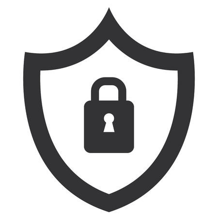 A shield with safe secure padlock vector illustration design Ilustrace