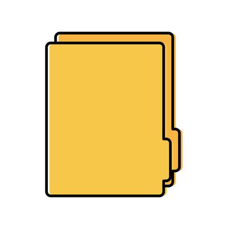 File folder icon image vector illustration design.
