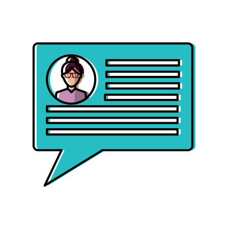 chat conversation bubble with user profile  icon image vector illustration design
