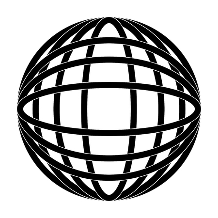 地球地球図アイコン画像ベクトルイラストデザイン 黒と白  イラスト・ベクター素材