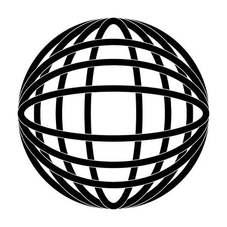 earth globe diagram icon image vector illustration design  black and white