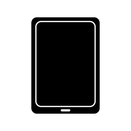 태블릿 장치 아이콘 이미지 벡터 일러스트 레이 션 디자인 흑백 일러스트
