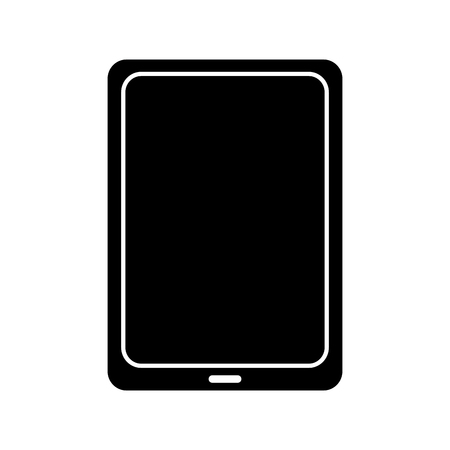 tablet gadget device icon image vector illustration design  black and white