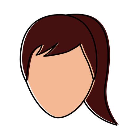 woman avatar icon image vector illustration design Illustration
