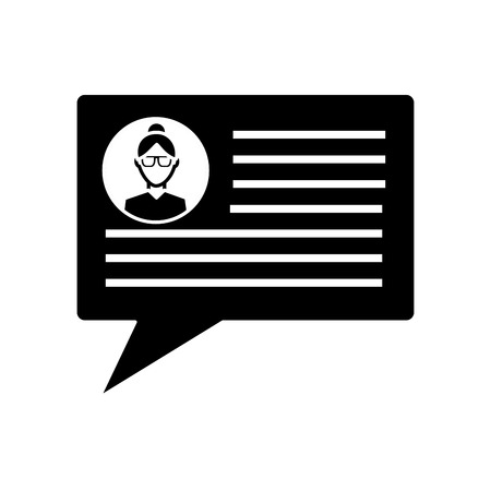 speech bubble sms chat message internet vector illustration  pictogram image