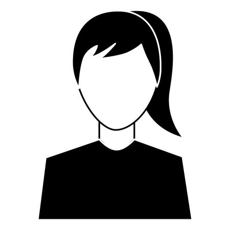 Weibliche Avatar Porträt Charakter Frau Vektor Illustration Piktogramm Bild Standard-Bild - 92181647