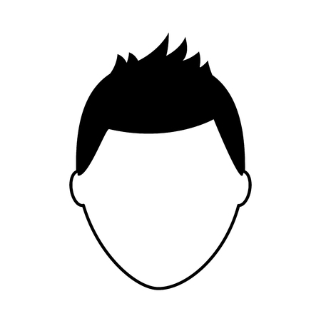 default male avatar man profile picture icon vector illustration  pictogram image Illustration