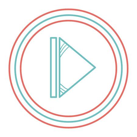 버튼 격리 된 아이콘 벡터 일러스트 디자인 재생 스톡 콘텐츠 - 92181663