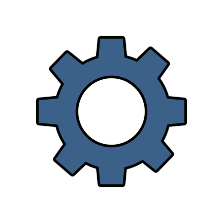 technical gear setting technology icon vector illustration