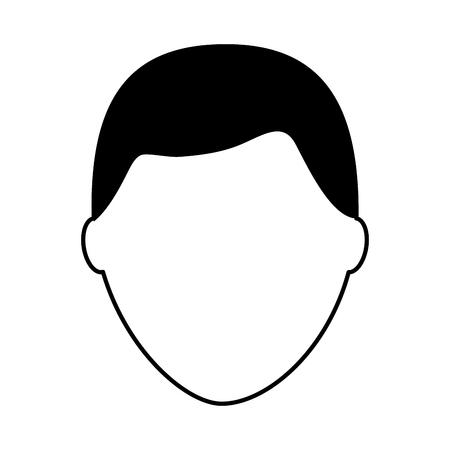 デフォルトの男性アバター男性プロフィール画像アイコンベクトルイラストピクトグラム画像  イラスト・ベクター素材
