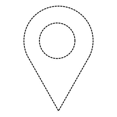 ピンポインタ位置アイコンベクトルイラストデザイン  イラスト・ベクター素材