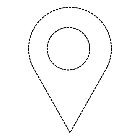 pin pointer location icon vector illustration design Banco de Imagens - 92181728
