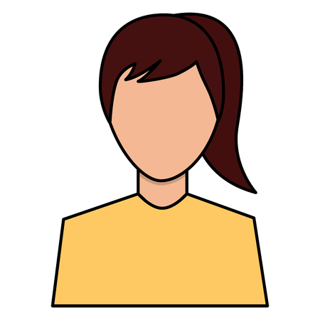 female avatar portrait character woman vector illustration