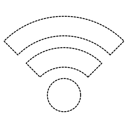wireless internet signal isolated icon vector illustration design