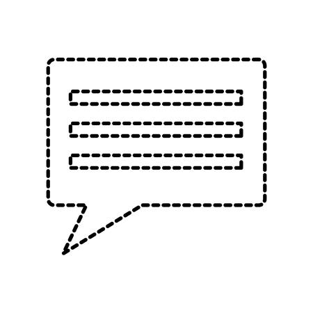 chat conversation bubble icon image vector illustration design  black dotted line