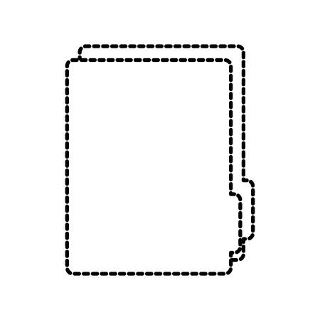 file folder icon image vector illustration design  black dotted line Stock fotó - 92184494
