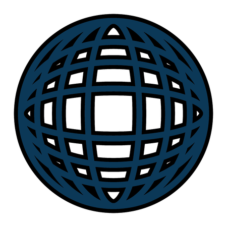 earth globe diagram icon image vector illustration design  Ilustração