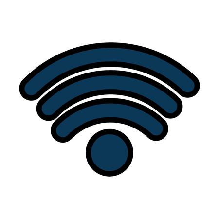 draadloos internet signaal pictogram afbeelding vector illustratie ontwerp Stock Illustratie