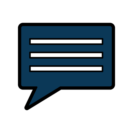 chat gesprek bubble pictogram afbeelding vector illustratie ontwerp Stock Illustratie