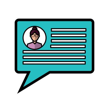 chatgesprek bubble met gebruikersprofiel pictogram afbeelding vector illustratie ontwerp Stock Illustratie