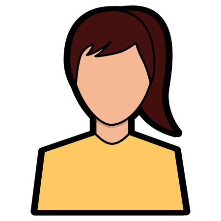 woman avatar portrait icon image vector illustration design