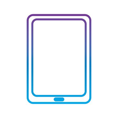 tablet gadget device icon image vector illustration design  purple to blue ombre line Illustration