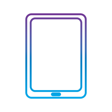 tablet gadget device icon image vector illustration design  purple to blue ombre line Ilustrace