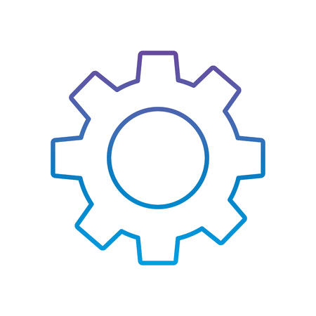 technical gear setting technology icon vector illustration outline color image Illustration