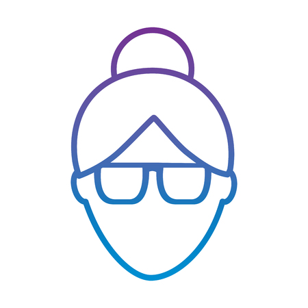 faceless woman profile avatar character vector illustration outline color image Illustration